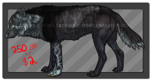 Stormy / wolf adoptable ( OPEN ) by gothams--reckoning