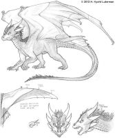 Dragon Character Concept by kyoht