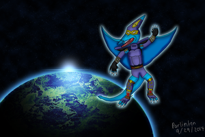 Soarn Pterodactyl Sentinel - Out in space by Parlinten
