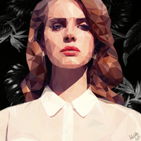 LOW POLY PROJECT / FIRST ARTWORK / LANA DEL REY by LolaDelta