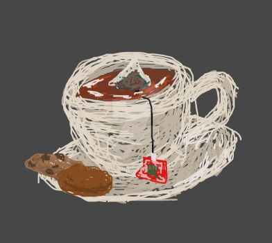 Scribble Challenge - Teacup by OpiumHeart