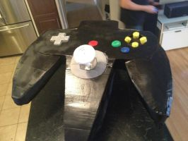 GIANT NINTENDO 64 CONTROLLER RAWR!!!! by MitchellMBird