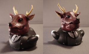 Deer Sebastian Duck by spongekitty