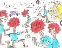 Harvey Stopsign Conceptual Art by NewtMan