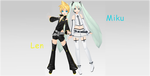 Len and Miku by TheMisturyGirl45