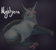 Tumblr POKEDDEX Day 17 - Mightyena by Pamuya-Blucat