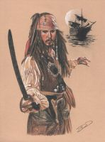 Captain Jack Sparrow by J-Redd