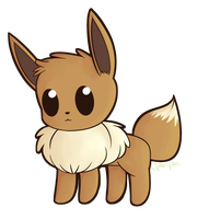 eevee doodle by cipher-pines