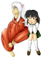Inuyasha and Kagome by Hapuriainen