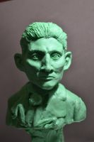 Franz Kafka bust in process by Ayante3d
