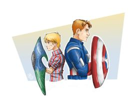 Always On the Defense (Audrey and Cap) by Renny08