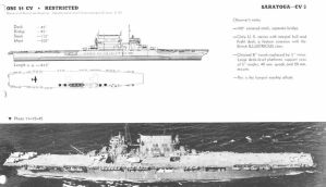 Technical Drawings: USS Saratoga by bwan69
