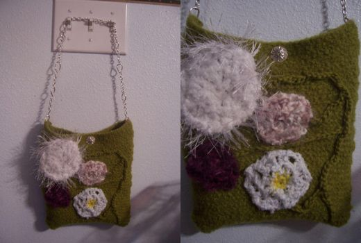 Felted Flower Purse OF DOOM by cyla
