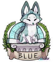 Blue: Foxfan of the Month of May by Belliko-art