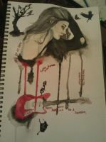 Frances Bean Cobain by deadhorseart
