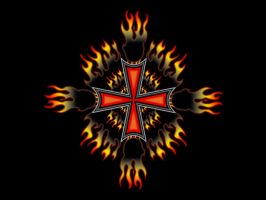 Iron Cross In Flames by fastworks