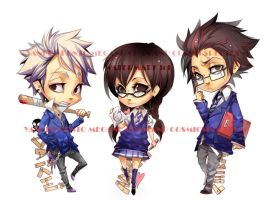 Keychains: Yankee to Megane by CosmicSpectrumm