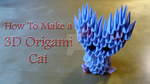 How To Make a 3D Origami Cat - Tutorial by IDEAndo-art
