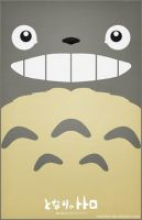 Totoro Poster - Smiling by Nortiker