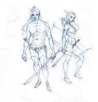 drizzt and catti-brie ftw :D by Selkirk