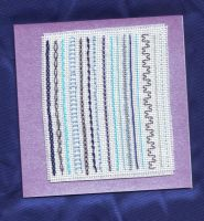 Loose Ends: Blue and Purple by HypotheticalTextiles