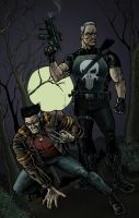 Wolverine+Punisher Commission by RamonVillalobos
