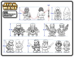 Star Wars : Fighter Pod Figure Designs by toymaker-cl