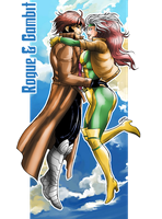 Rogue and Gambit Colors by Claret821021