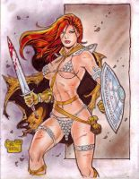 RED SONJA by RODEL MARTIN (08292014) by rodelsm21
