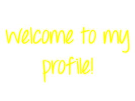 Welcome To My Profile - Yellow - Mossy's Graphics by MossyMyBaby