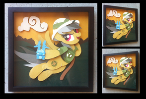 Shadowbox:  Daring Do by The-Paper-Pony