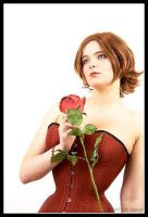 Red Edwardian Corset by Illahie