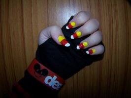 Candy Corn Nails by GingaAkam