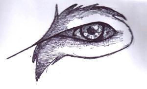 Wolf Eye (pen 2) by Wildefray