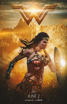 Wonder Woman Poster by Visutox