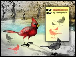 Red Cardinal Brush by altergromit