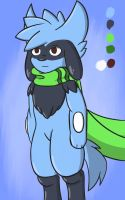 Xael the Riolu 2017 - Concept art by Deathxael