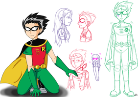 Teen Titans -- Robin by pooglegrundolovers