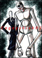 Genderbend: Slenderwoman x Samuel Fitch by Cageyshick05