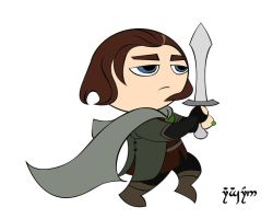 Chibi Aragorn by Norloth