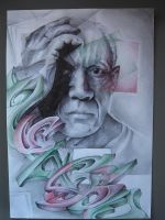 Pablo Picasso Graff by Pick1