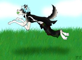 Fetch! [Art trade] by kungfudemoness