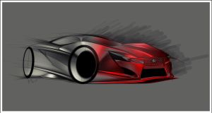 Lexus Concept sketch by JacobKuiper