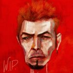 David Bowie caricature by JALpix