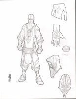GlyphX the Urban Mage | Hero Form by NKOSI-Publishing