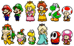 Super Mario Cute Characters 1 by SuperLakitu