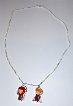 Axel and Roxas necklace by knil-maloon
