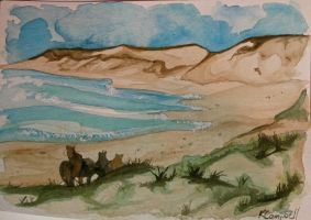 Sable Island - Watercolour by Inquisitive-Soul