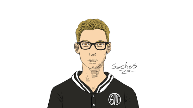 TSM Bjergsen Speed Drawing - League of Legends by sachos345