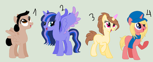 Old OCs adoptables by Starlollipop